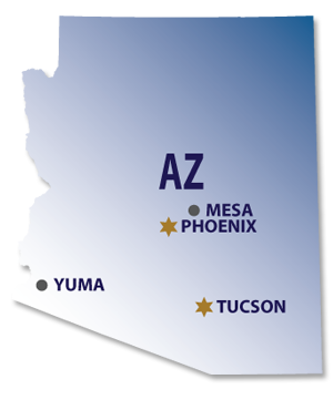 Numark Transportation Arizona Map